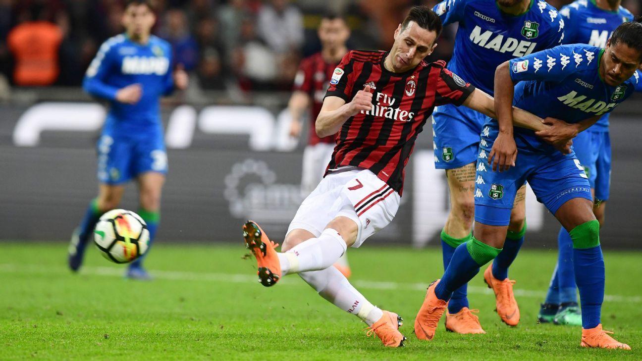 AC Milan vs. Sassuolo – Football Match Report – April 8, 2018 ...
