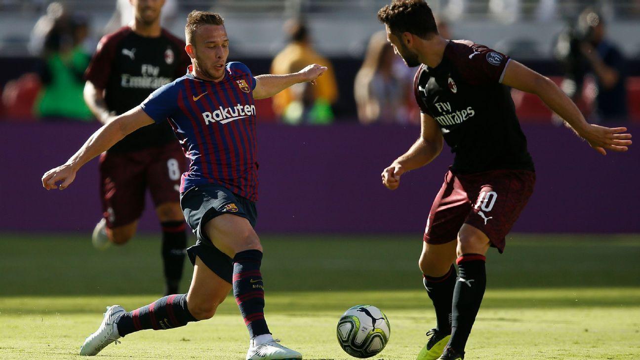 Ac Milan Vs Barcelona Football Match Report August 4 2018 Football News Central